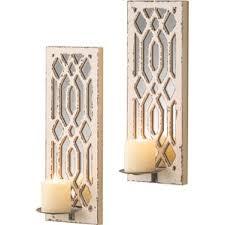 Mirrored Wall Sconce Candle Wall Sconces Joss U0026 Main