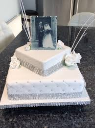 Where To Print Edible Images Diamond Anniversary Cake With Photo Made With Edible Printing