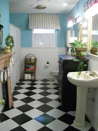 black and white checkered bathroom collection