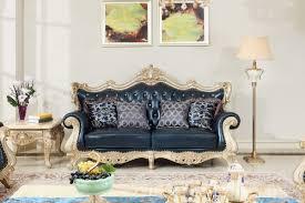Luxury Leather Sofa Sets Style Luxury Leather Sofa Set Wood Carving By Joyful Ever Living