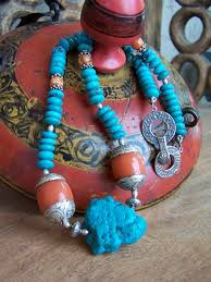 turquoise tibetan necklace images Tibetan turquoise coral necklace hogwild jewelry jpg