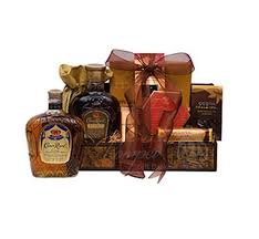 canadian gift baskets royal treats whiskey gift basket by pompei baskets