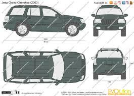2001 gray jeep grand cherokee the blueprints com vector drawing jeep grand cherokee