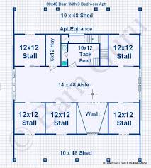 Horse Barns With Apartments Plans 5 Stall Horse Barn Floor Plan Future Property Pinterest