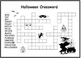 printable halloween crossword kids color halloween children