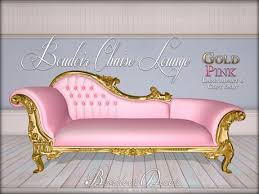 Pink Chaise Lounge Second Marketplace Boudoir Chaise Lounge Gold Light Pink