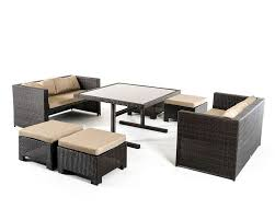 outdoor dining set in contemporary style 44p217 set