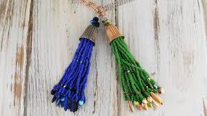 tassel necklace make images How to make a beaded fringe tassel necklace jpg