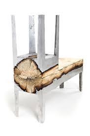 wood and metal unite in striking furniture by hilla shamia bored