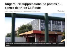 bureau de poste bamako angers fermeture de la pic d angers 70 suppressions de postes syndicat