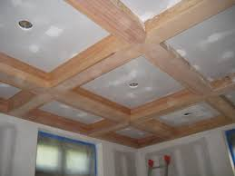 Coffered Ceiling Lighting by Ceiling Coffered Ceiling In Progress For The New Room