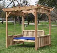 deluxe decorative arbor swing