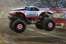 Image Wheels Monster Truck Captain America Jpg Monster