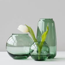 Round Glass Vase Form 70 3 Round Glass Vase Green Lyngby Designers Avenue