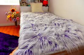 Faux Fur Comforter Frost Royal Purple White Faux Fur Mongolian Fabulous Bedroom