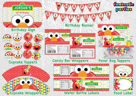 diy elmo ideas with free printables from elmo birthday