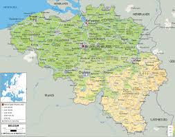 Blank Physical Map Of Europe by Belgium Map Physical Map Of Belgium New Zone