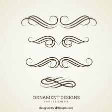ornament designs vector free