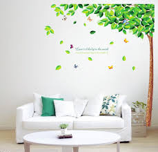 bedroom wall stickers fresh green tree butterfly wall stickers removable monkey wall