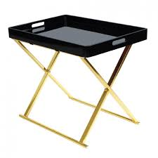 Black Accent Table Folding Accent Table Black Gold