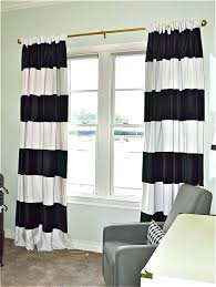 Grey And White Striped Curtains Horizontal Striped Curtains Codingslime Me