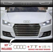 cars audi kids ride on car audi tt bonnet sticker badge boot badges for