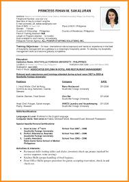 Pdf Format For Resume 6 Curriculum Vitae Pdf Format Fillin Resume