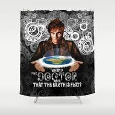 Doctor Who Shower Curtain Retro Style 10th Doctor Who Shower Curtain Pointsalestore