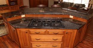 kitchen kitchen island with stove top and seating young