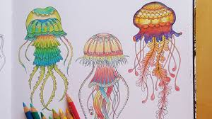 lost ocean speed colouring green fluorescent jellyfish youtube