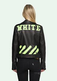 off white leather jackets offwhite