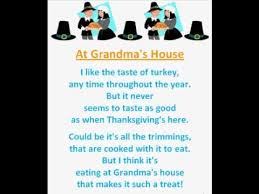 at s house thanksgiving poem