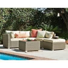 Sectional Sofa Set Jicaro 5 Outdoor Wicker Sectional Sofa Set Thy Hom
