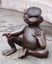 frogville ornamental frogs scuba frog