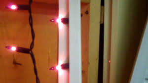 christmas mini light window frame test youtube