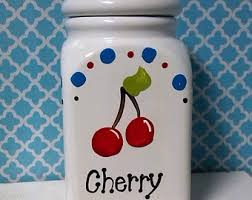 cherry canisters etsy