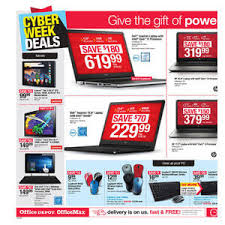 black friday office depot office depot officemax cyber monday 2016 ad
