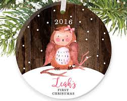 baby u0027s first christmas ornament personalized