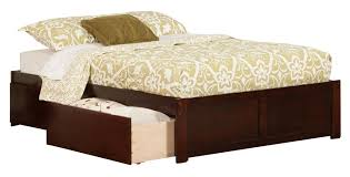 Platform Bed Drawers Concord Flat Panel Foot Board With 2 Bed Drawers