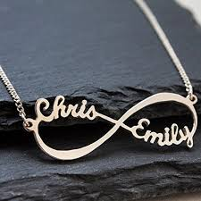infinity necklace with name sterling silver infinity necklace personalized name