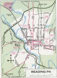 map of berks county pa reading pa road map
