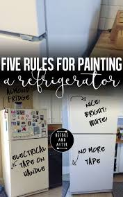 how to paint a refrigerator to look like new