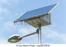 solar panel street lights street l with solar panel street light powered by a picture