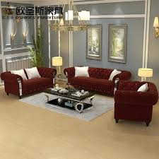 Burgundy Living Room Set Burgundy Living Room Set 7 Seats Chesterfield Wine Luxury