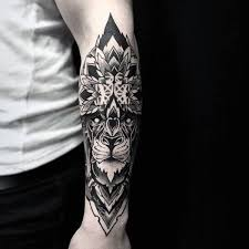floral forearm guys tattoo sleeve ideas mandala and geometric