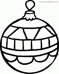 ornament christmas color page holiday coloring pages color plate