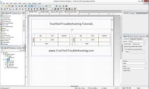 adobe livecycle designer side by side expanding tables or the column effect in adobe