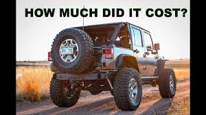 What Does It Cost To by What Does It Cost To Run 37s On A Jeep Wrangler Youtube
