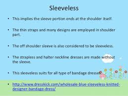 types of sleeve designs in bandage dresses