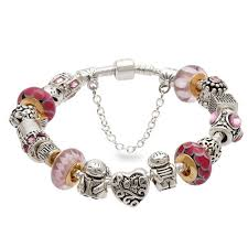 murano beads bracelet images Red murano glass beads silver love heart charm beads european jpg